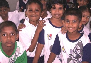 tamil school children