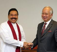 Tunku-Najib with Rajapakse